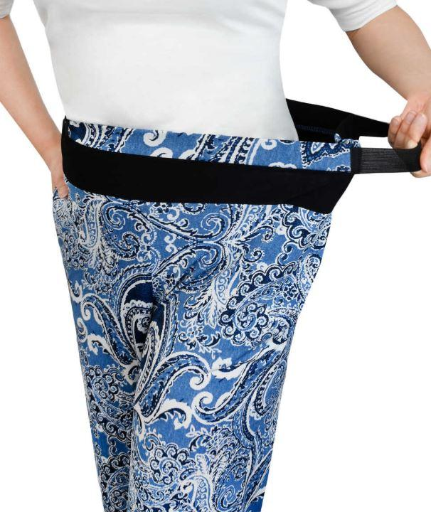 Pants - Women's Arthritis Easy Grip Wide Leg Pull On Pants (size: From Small To 2XLarge)
