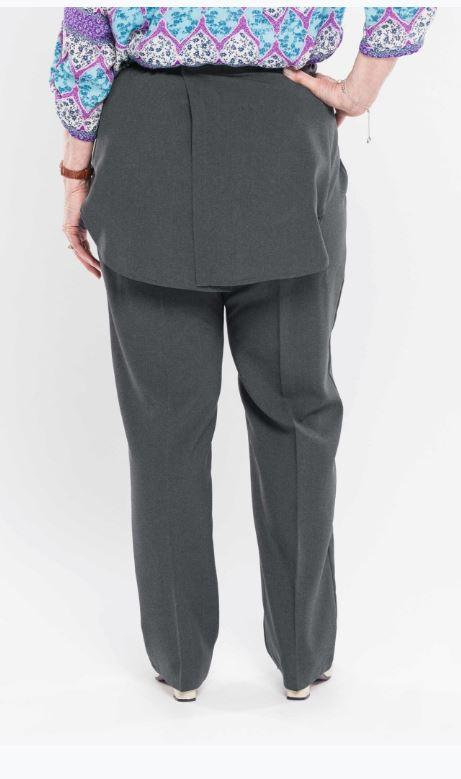 Pants - Women's Open Back Adaptive Pants With Dignity Panels - Colors: Charcoal, Coca, Grey/Mix (size: From XSmall To XLarge)