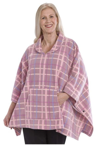 Women's Comfy Polar Fleece Poncho  (size: One)