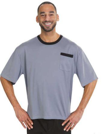 Shirts - Men's Adaptive T-shirt Top - Back Snap Shirts (size: From Small To XLarge)