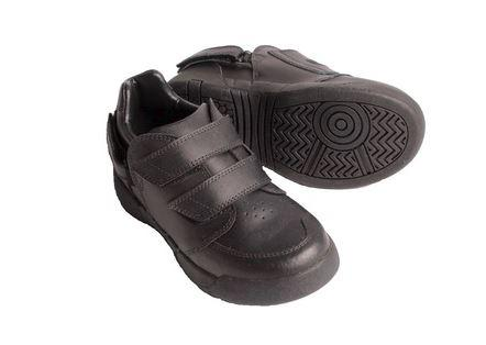 Shoes - Aspire Kids Shoe : Black Leather: Toddler (Size: Child 7 Only)