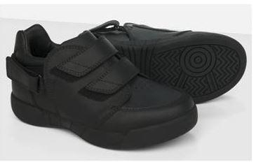 "Shoes - Girl's/Boy's Hatchbacks Aspire Kids Shoe (Black Leather) - ""easy Fit"" System For Use With AFOs.(sizes: Child 7)"