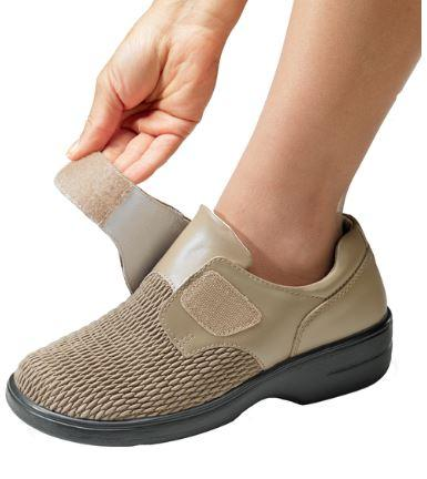 Shoes - Propet Shoes Wide Leather Shoes For Women - Adjustable VELCRO® Brand Fastener Shoe
