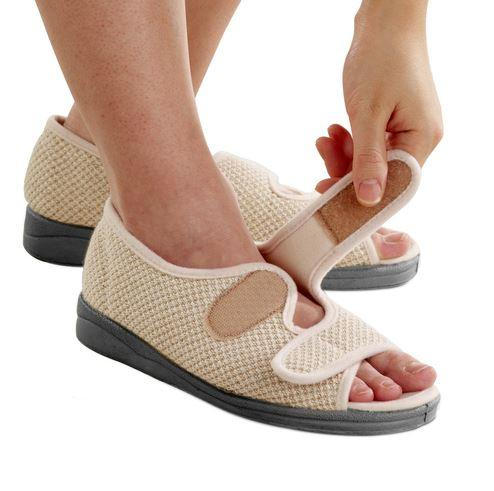Shoes - Women's Wide Adjustable Sandals Indoor Outdoor Sandals Adjustable With Straps Brand (size: From 5 To 12)