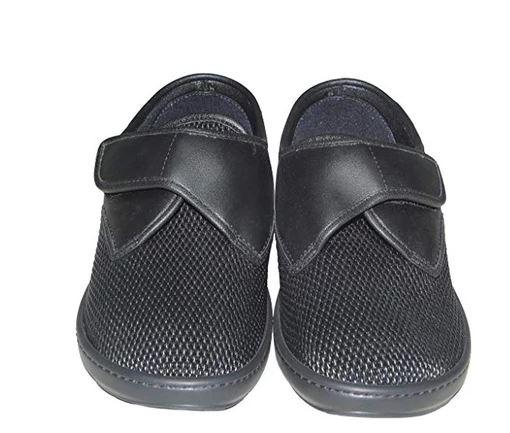 Slippers - Men's Adjustable Slippers - Black | Alvine | (size: From 6 To 11)