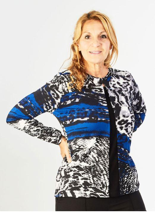 Sweater - Women's Fashion Adaptive Sweater With Contrasting Patterns (size: Large And XLarge Only)