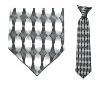 Tie - Boy's Grey/White Clip-on Tie (10.5 Inch Long For Ages Toddler To 8 Years)