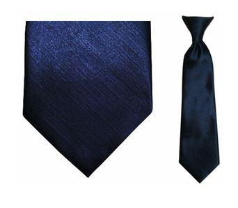 Tie - Boy's Solid Navy Blue Clip-on Tie (10.5 Inch Long For Ages Toddler To 8 Years)