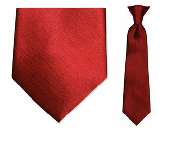 Tie - Boy's Solid Red Clip-on Tie (10.5 Inch Long For Ages Toddler To 8 Years)