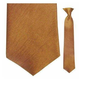 "Tie - Junior Copper Moire Clip-on Tie For Ages 9 -12 (sizes: 12.5"" 13.5"" And 14.5"")"
