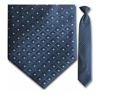 "Tie - Men's Black And White Square Pattern Clip-On Tie (Sizes 17"", 19"", 21"" + 23"")"