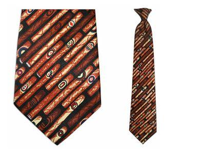 "Tie - Men's Cigar Theme Clip On Tie (Sizes  19"" And 21"")"