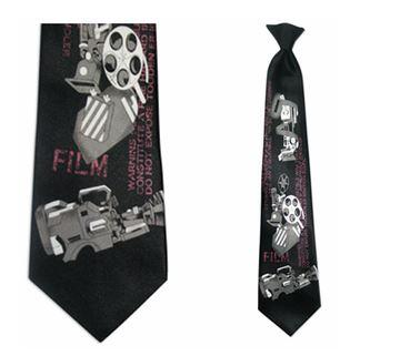 "Tie - Men's Cinema Theme Clip On Tie (Sizes  19"" And 21"")"