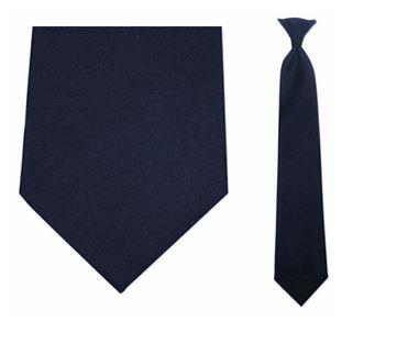 "Tie - Men's Navy Blue Uniform Clip-On Tie (Sizes 17"", 19"", 21"" + 23"")"
