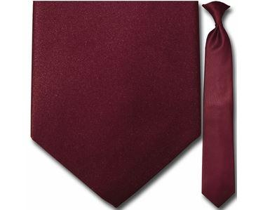 "Tie - Men's Solid Burgundy Clip-On Tie (Sizes 17"", 19"", 21"" + 23"")"