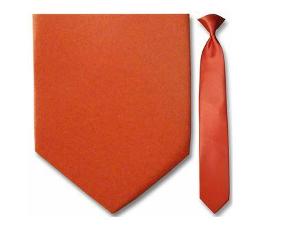 "Tie - Men's Solid Coral Clip-On Tie (Sizes 17"", 19"", 21"" + 23"")"
