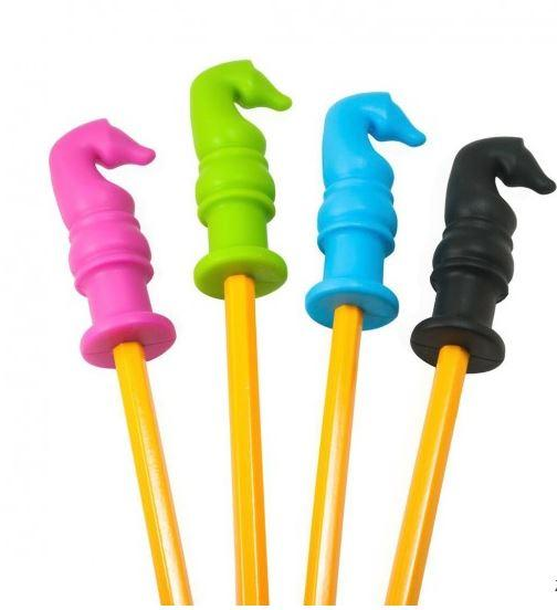 Toys - Chewy Horse Pencil Toppers - Fun Sensory Motor Aid! (Pack Of 4)