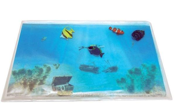 Toys - Gel Aquarium With 4 Fish Sensory Weighted Pad (5lb) - Training For Eye-hand Coordination And Improves Finger Strength And Dexterity.