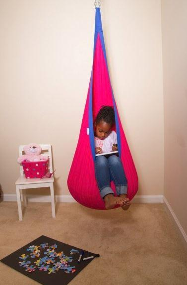 Toys - Hanging Pod Therapy Swing - Used By Occupational Therapists For Autism Spectrum Disorder And Sensory Processing Disorder.