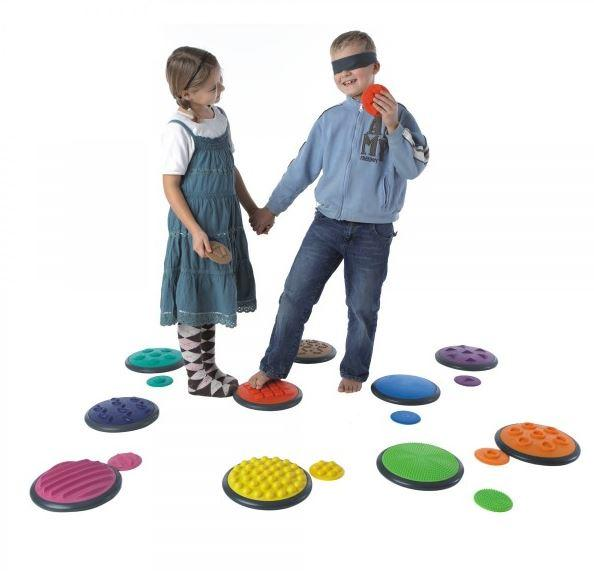 Toys - Tactile Discs Set Of 10 (Beginner+Advanced) - Develops The Ability To Describe Sense Impressions Verbally
