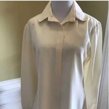 Women's Long Sleeve Blouse - Velcro front  (size: from Small to XLarge)
