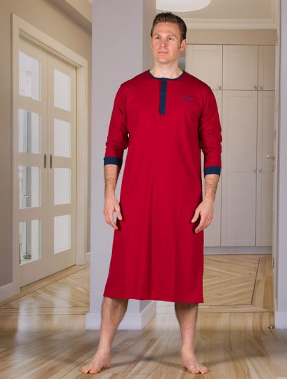 Men's Nightshirt with an Extra Fold in the Back (from Small to Xlarge)