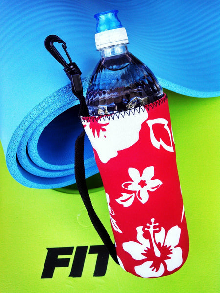 24oz retro red neoprene water bottle koozie