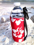 retro red 16oz neoprene water bottle koozie
