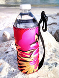 haole pink neoprene water bottle koozie