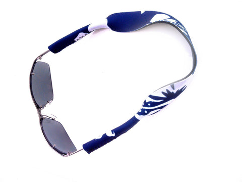 neoprene sunglass strap retro blue
