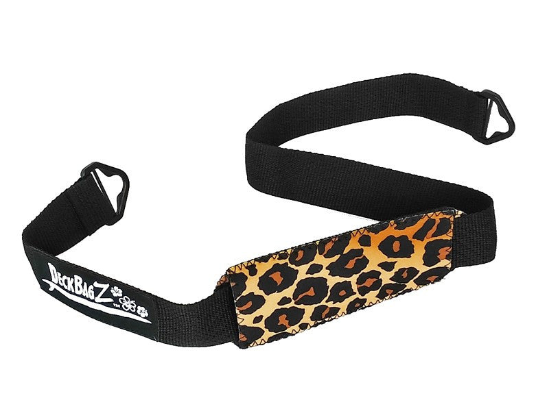 leopard animal print paddle board deck bag carry strap