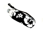 Neoprene Water Bottle Koozie 16oz - Retro Black