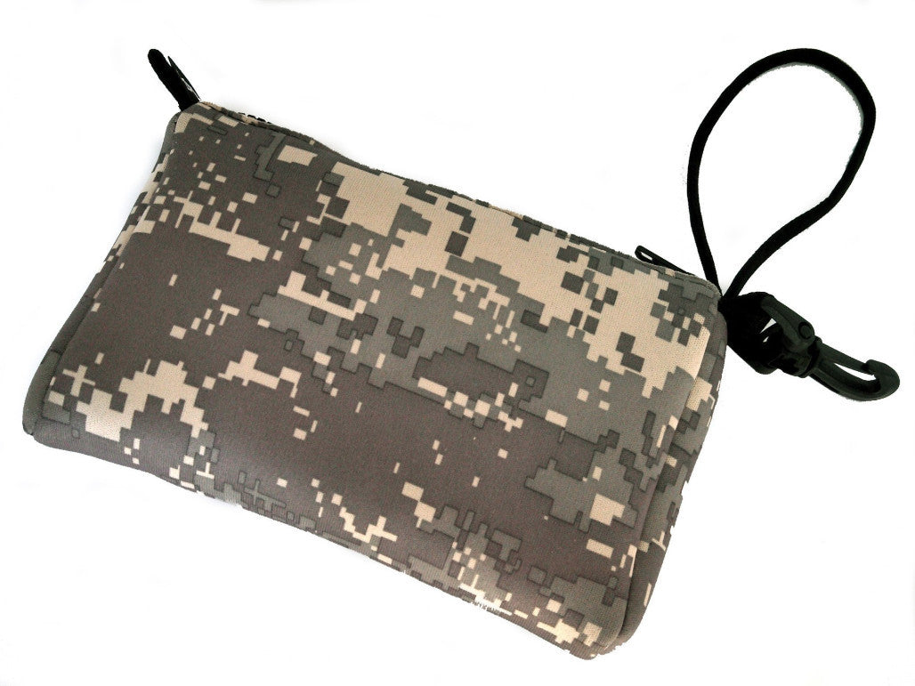 wristlet neoprene bag - tribute camo