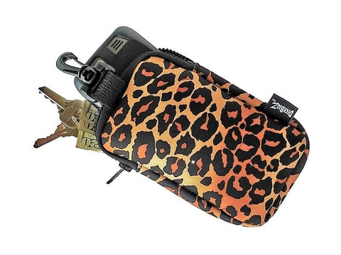 neoprene stash bag animal print leopard