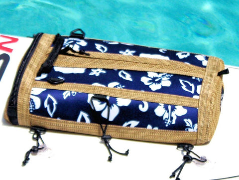 retro blue sup deck bag