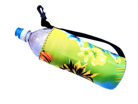 neoprene water bottle koozie 24oz haole green