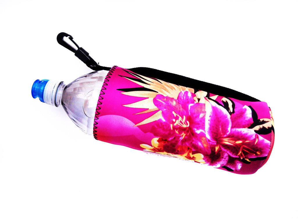 neoprene water bottle koozie 24oz haole pink