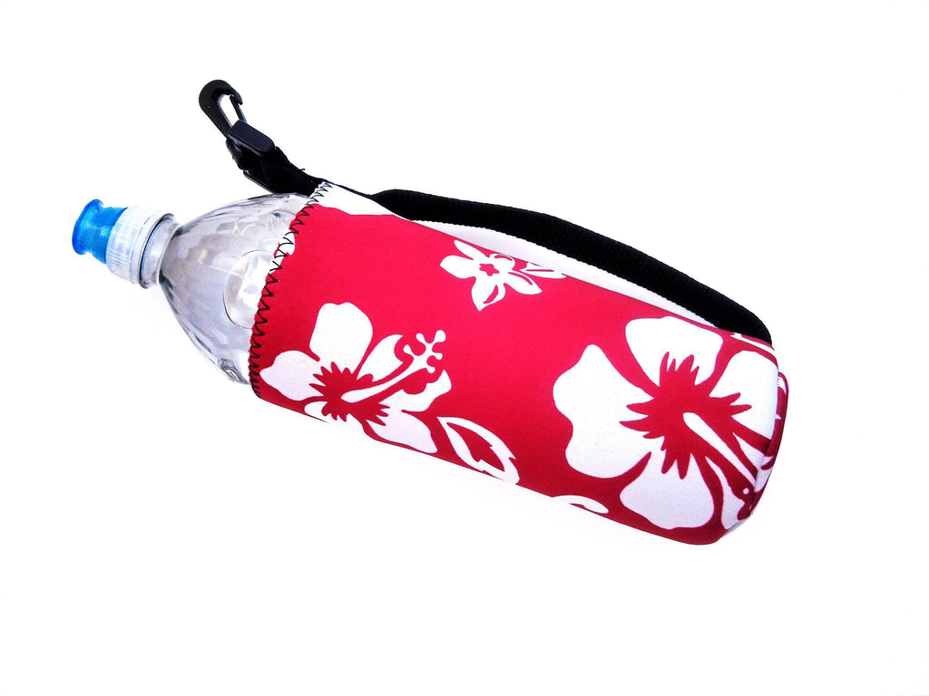 neoprene water bottle koozie 24oz retro red
