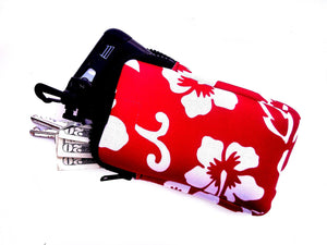 hook on neoprene bag retro red
