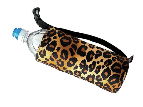 sport bottle coozie leopard animal print 24 oz