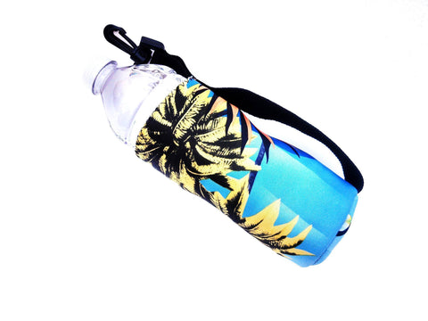 neoprene water bottle koozie haole green