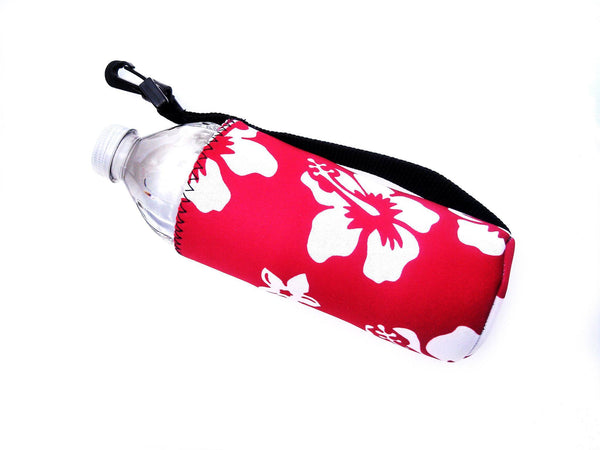 neoprene water bottle koozie 16oz retro red