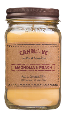 Magnolia & Peach 16 oz. Candles