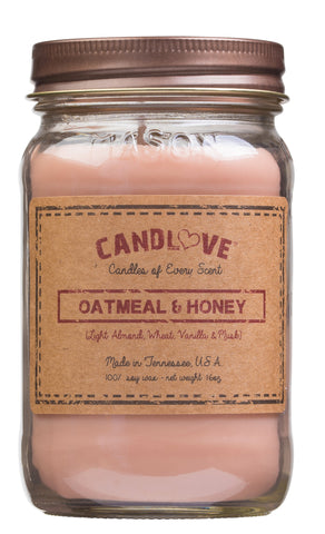 Oatmeal & Honey 16 oz. Candles