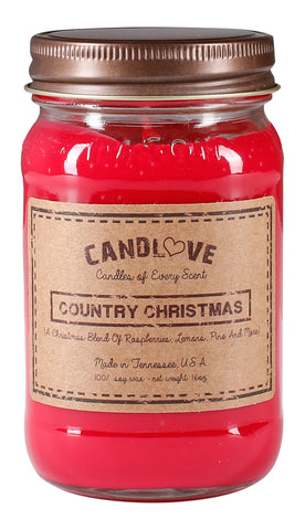 Country Christmas 16 oz. Candles