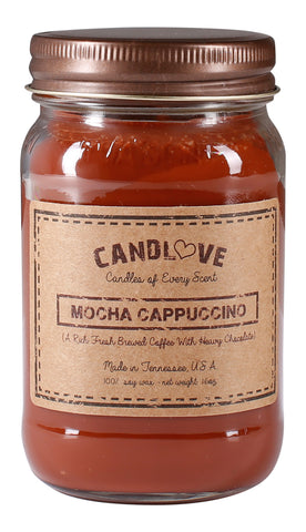 Mocha Cappuccino 16 oz. Candles
