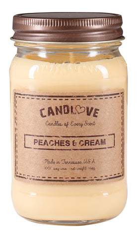 Peaches & Cream 16 oz. Candles