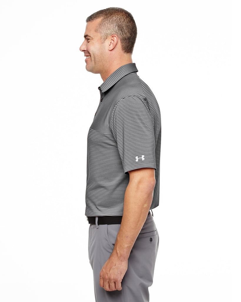 8a94def2d1 ... Under Armour Men's Clubhouse Polo Playoff Stripe Polo - Black/True ...