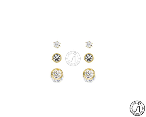 3 Piece Angel Hair Stud Earring