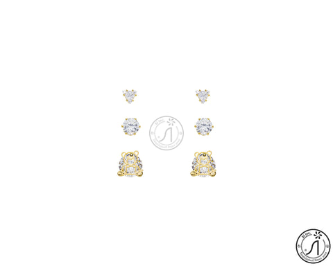 3 Piece Angel Bear Stud Earring